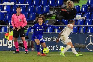 0-0. Getafe y Huesca empatan al descanso en el Coliseum