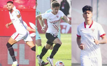 El Sevilla FC fabrica gol y presume de 'pichichis' en Primera, Segunda B y DH Juvenil.