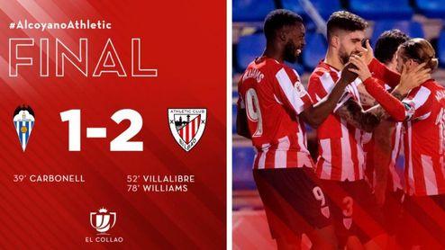 1-2. Villalibre y Williams concretan la remontada del Athletic