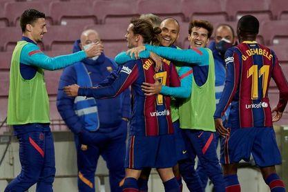 """Griezmann: """"Estamos disfrutando de Messi, es una leyenda"""""""
