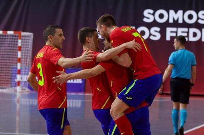 El bético Eric Pérez, protagonista en la victoria de España