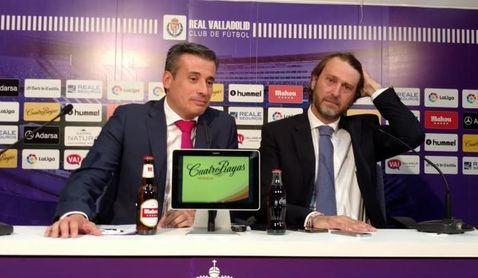 El ex del Sevilla Miguel Ángel Gómez y su referente bético