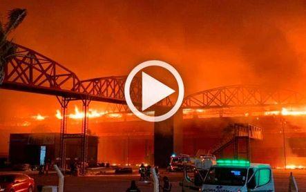 Espectacular incendio en el circuito mundialista de Termas de Río Hondo