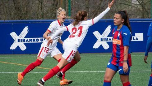El Sevilla Femenino se reencuentra con el triunfo ante el Eibar a base de coraje
