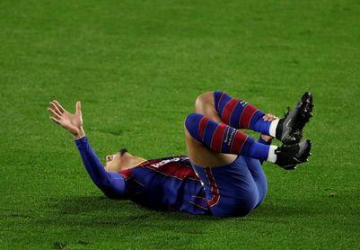 El Barcelona confirma el esguince en el tobillo del uruguayo Araujo