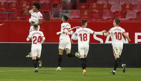Las opciones del Sevilla de pasar con 2-0 según su historia.
