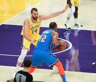 Mark Gasol e Ibaka contribuyen a sendos triunfos de Lakers y Clippers