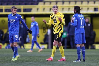 Haaland salva un punto para el Dortmund