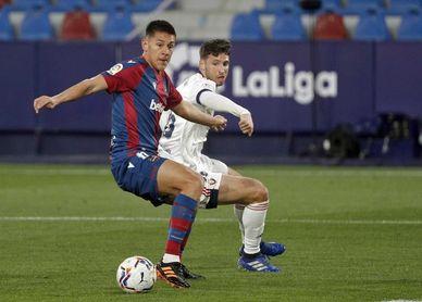 0-1. El Levante acusa la resaca copera y el Osasuna vuelve a ganar fuera