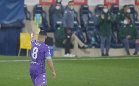 Fekir celebra su gol ante el Villarreal.
