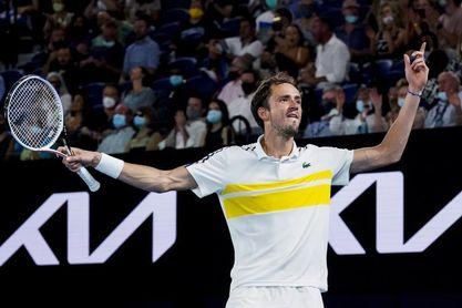 """El """"hombre a batir"""" Medvedev buscará destronar al rey Djokovic"""