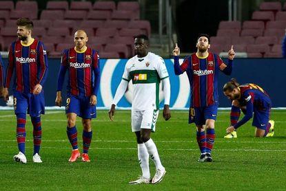 3-0. Messi desatasca al Barça y aprieta la Liga