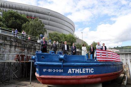 Finaliza la restauración de la gabarra Athletic, a falta de la prueba en agua