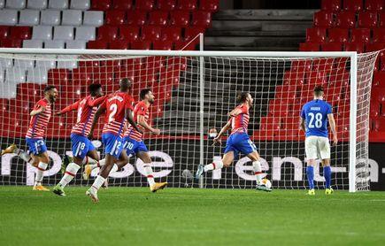 2-0. Jorge Molina y Soldado acercan al Granada a cuartos de final