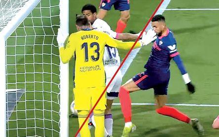 En Valladolid sacan una imagen que anularía el gol de Bono