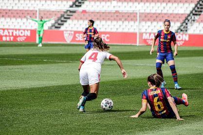 Sevilla FC Femenino 0-4 FC Barcelona: Aguanta lo que puede ante un coloso
