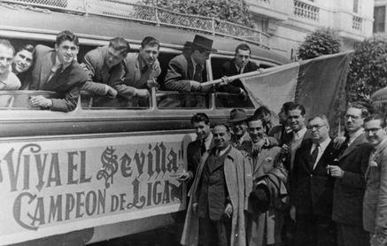 El Sevilla conmemora el 75 aniversario de su única Liga