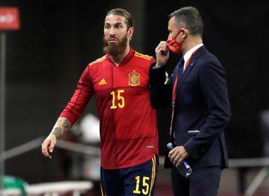 Sergio Ramos tiene una lesión en el gemelo interno de la pierna izquierda.