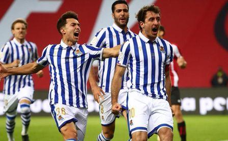 La Real Sociedad, campeona de la Copa del Rey en La Cartuja.