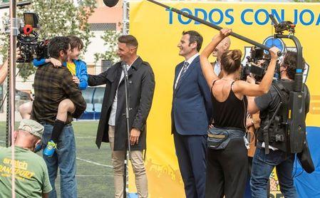Joaquín, durante el rodaje de 'Héroes de barrio'.