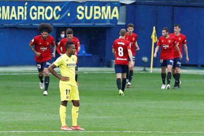1-2. El Osasuna le baja los humos al Villarreal