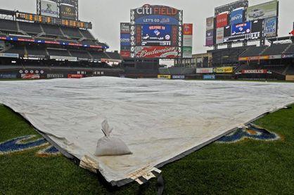 Se aplaza por lluvia el primer partido de la serie entre Mets y Filis