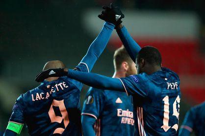 0-4. El Arsenal disipa las dudas en Praga goleando al Slavia