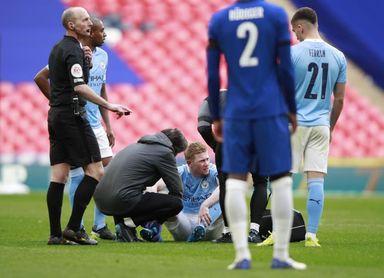 De Bruyne se marcha lesionado de la semifinal de la Copa de Inglaterra
