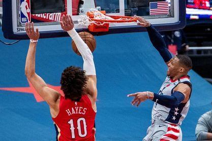 121-100. Westbrook logra su vigésimo quinto triple-doble y ganan los Wizards