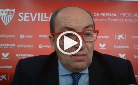 """Castro: """"El Sevilla no ha sido invitado, le gusta ganarse su estatus en el terreno de juego""""."""