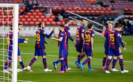 5-2: El Barça sigue creyendo en la Liga