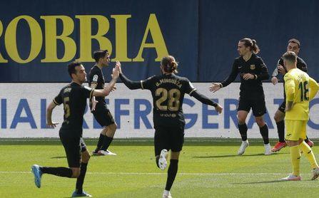 Villarreal 1-2 Barcelona: Griezmann avisa al Atlético.