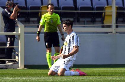 Un golazo de Morata no basta al Juventus para conquistar Florencia