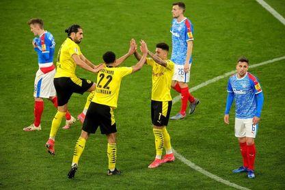 El Dortmund, sin Haaland, se clasifica con goleada a la final de la Copa