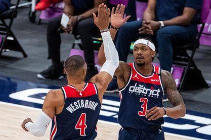 141-154.Westbrook, espectacular, triple-doble con 24 asistencias en el triunfo de los Wizards