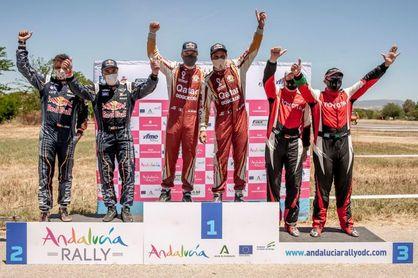 Sainz gana la última etapa en coches y Barreda el Andalucía Rally en motos