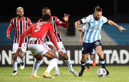 En duelo de invictos, el Sao Paulo y el Racing disputan liderato del Grupo E
