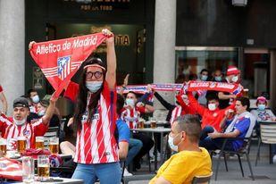 Seguidores del Atlético de Madrid en Valladolid