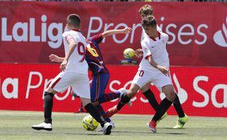 El Sevilla FC cae en la final de LaLiga Promises ante el Barça