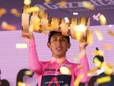 Egan Bernal, da positivo por covid-19 tras ganar el Giro de Italia