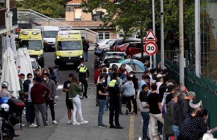 Cuatro heridos al caer una valla en un campo de fútbol en Pasaia (Gipuzkoa)