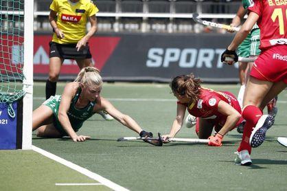 España luchará por la medalla tras empatar con Irlanda (1-1)