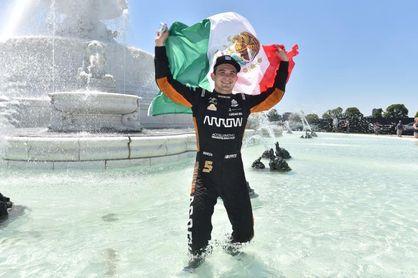 El mexicano O'Ward celebra su segundo triunfo como nuevo líder de la IndyCar