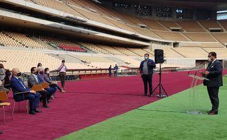 José María Arrabal recibe este jueves a una representación de los deportistas andaluces que participarán en Tokio 2020.
