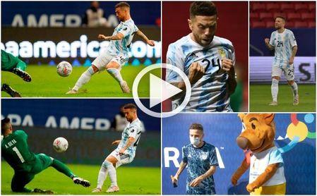 El golazo del Papu, que hizo bailar hasta a la mascota, para meter a Argentina en cuartos de la Copa América