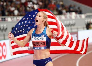 Emma Coburn gana los 3.000 metros obstáculos y disputará sus terceros Juegos
