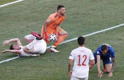 España, la selección a la que menos rematan en la Eurocopa