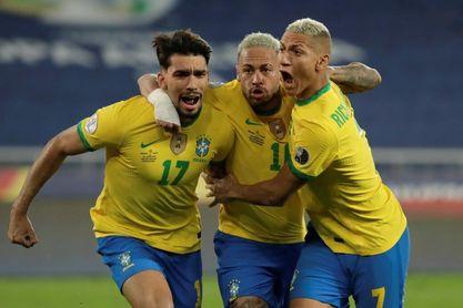 Lucas Paquetá dice que lo importante fue el avance de Brasil a semifinales