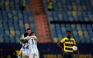 3-0. Argentina golea a Ecuador y se cita con Colombia en las semifinales