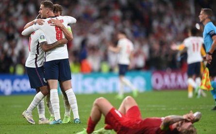 Inglaterra 2-1 Dinamarca: Rompe su maldición y se estrena en una final